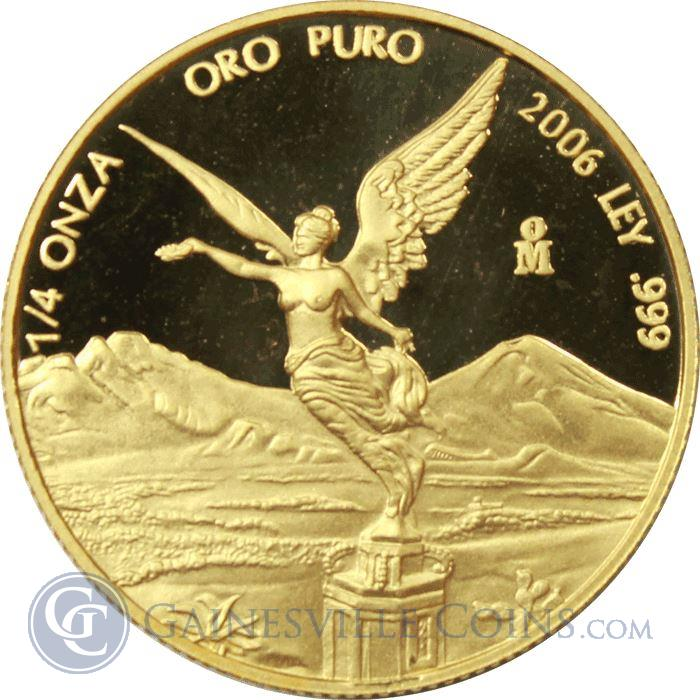 Image Showcase for 2006 1/4 oz Mexican Proof Gold Libertad