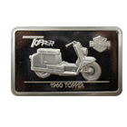 1.4 oz Silver Ingot Harley Davidson 90th Anniversary | 1960 Topper (With COA)