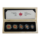 1999 Canadian Gold Maple Leaf 20th Anniversary 5-Coin Set - Red Maple (Mintage of ONLY 500 Sets!)