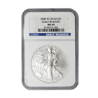 2008-W 1 oz American Silver Eagle - Burnished | NGC MS69 Early Release