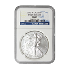 2012-W 1 oz American Silver Eagle - Burnished   NGC MS69 Early Release