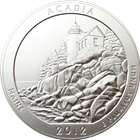 2012 5 oz Silver America The Beautiful - Acadia National Park (With Box and COA)
