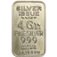 4 Gram Silver Bar   Simmons - thumbnail