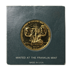 1975 Cook Islands $100 Proof Gold Coin - Return To England From Second Voyage (.2778 AGW)