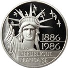 1986 1 oz Platinum French 100 Francs Coin - With Box and COA (.6430 oz of Platinum)