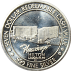 Flamingo Hilton $7 Silver Gaming Token (.653 oz of Pure .999 Silver)