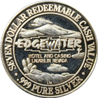 Edgewater Hotel and Casino $7 Gaming Token (.653 oz of Pure Silver)