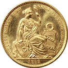 1959 Peru 20 Soles Gold Coin (.2709 oz of Gold)
