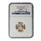 2012 $5 American Gold Eagle NGC MS70 Early Release