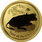 2009 1 oz Gold Australian Lunar Year of the Ox (Series II)