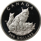 1995 1 oz Canadian $300 Proof Platinum Lynx