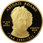 2007-W $10 Abigail Adams First Spouse Proof Gold Coin