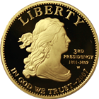 2007-W $10 Jefferson's Liberty Proof Gold Coin