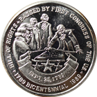 Bill Of Rights Passed By First Congress Of The US 1 oz Silver Art Round (.999 Pure)