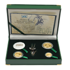 2001 South African Oryx (Gemsbok) 3-Coin Proof Gold Natura Set
