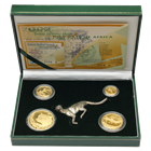 2002 South African Cheetah 4-Coin Proof Gold Natura Prestige Set - W/ RSA Privy Mark!!