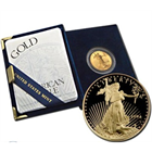 1/10 oz Proof Gold American Eagle (Random Year, w/Box & COA) - no outer box