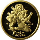 1/10 oz Gibraltar Proof Gold Cherub Angel - Random Date
