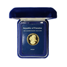 1976 Panama 100 Balboa Proof Gold Coin - With Box and COA (.2361  oz of Gold)