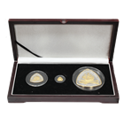2007 Bermuda Shipwrecks 3 Coin Proof Gold and Silver Triangle Set (San Pedro) - Mintage of only 300