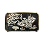Happy Fathers Day 1 oz Silver Art  Bar (.999 Pure)