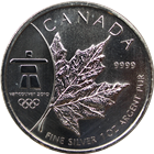 2008 1 oz Canadian Silver Maple Leaf - Vancouver Olympics
