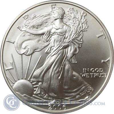 2006 W 1 oz Burnished American Silver Eagle