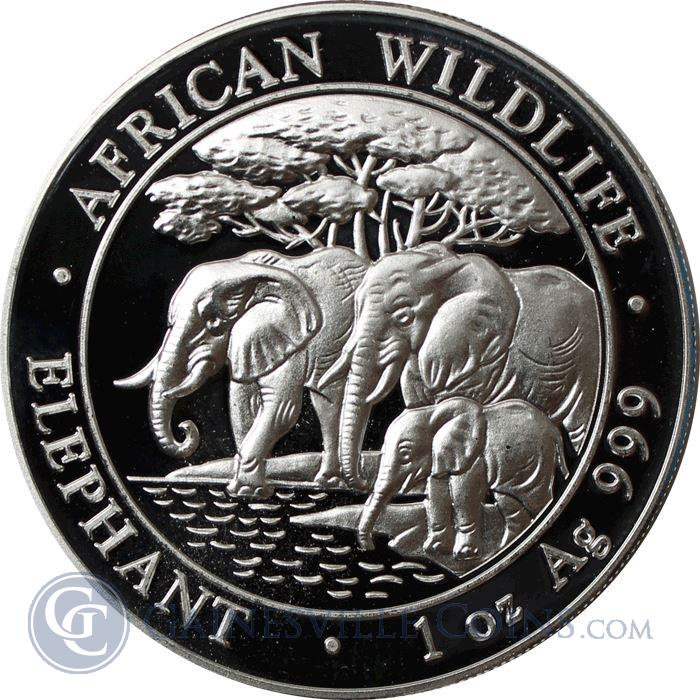 Image Showcase for 2013 1 oz Silver Somalian African Elephant (.999 Pure)