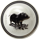 2007 2 oz Australian Silver Lunar Year of the Pig (Series 1)
