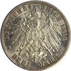 1913-A German States Prussia Drei 3 Mark Silver Coin (.4823 oz of Silver)