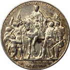 1913 German States Prussia Zwei 2 Mark Silver Coin - 100 Years Defeat of Napoleon (.3215 ASW)