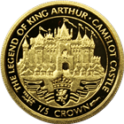 1996 Isle of Man 1/5 Crown Proof Gold Coin - The Legend Of King Arthur Camelot Castle