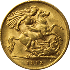 Great Britain Gold 1/2 Sovereign - Random Date  (.1177 oz of Gold)