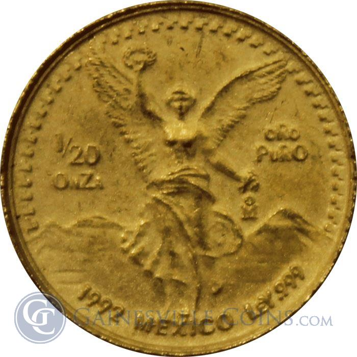 Image Showcase for 1992 1/20 oz Mexican Gold Libertad