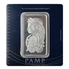 50 Gram PAMP Suisse Silver Bar | Lady Fortuna With Assay (.999 Pure)
