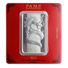 100 Gram PAMP Suisse Silver Bar | Lunar Dragon With Assay (.999 Pure)