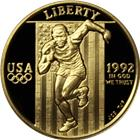 1992 $5 US Mint Olympic Gold Commemorative - With Box & COA