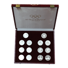 1976 Austria 100 Schilling Winter Olympic 14-Coin Silver Set (6.9 oz of Silver)