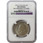 1936 50C Cleveland  NGC UNC Details - Obverse Improperly Cleaned