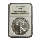 2011-W Burnished 1 oz American Silver Eagle NGC MS70