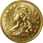 2008-W $10 Jackson's Liberty First Spouse Uncirculated Gold Coin - With Box & COA