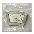 2005 1 oz Silver Chinese Rooster Fan Shaped - With Box & COA (Sealed In Mint Plastic) Mintage of only 66,000!