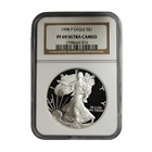 1998-P 1 oz Proof Silver American Eagle NGC PF69 Ultra Cameo