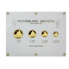 1986 4-Coin Proof Gold Switzerland Helvetia Set