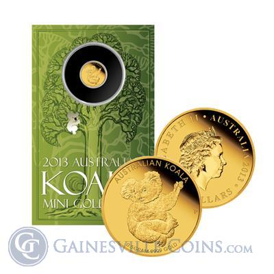 2013 .5 Gram Australian Proof Gold Koala   In Card