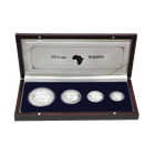 2013 Somalian Proof Silver African Elephant 4-Coin Set (3.75 ASW) With Box and COA