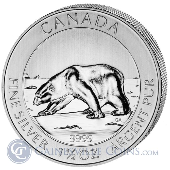 Image Showcase for 2013 1.5 oz Canadian Silver Polar Bear