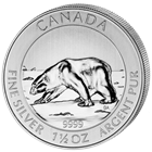 2013 1.5 oz Canadian Silver Polar Bear