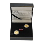 1999/2000 South Africa Natura Series 1/10 oz Gold 2-Coin Set - Kudu & Sable W/Diamond & Ruby Crown (Mintage of ONLY 200 Sets!)