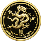 2012 Australian 1/4 oz Proof Gold Lunar Year of the Dragon (Series 2)